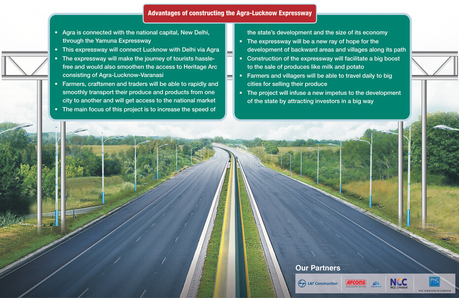 Agra-Lucknow Expressway Advantages