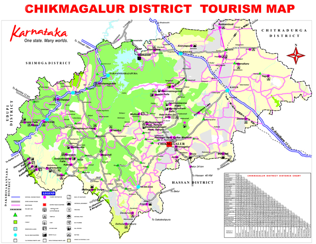 Chikmagalur India  city pictures gallery : Chikmagalur District Tourism Map PDF Download Master Plans India