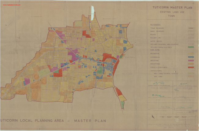 Tuticorin India  City new picture : Tuticorin Town Existing Landuse Map PDF Download Master Plans India