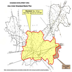 Ghaziabad Development Area under Ghaziabad Master Plan 2021