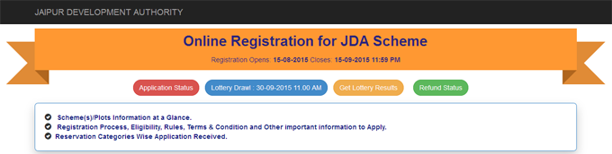 JDA Refund Status of Plot scheme 2015