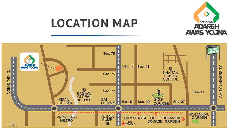 Amrapali Adarsh Awas Yojna Location Map