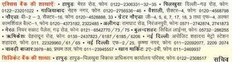 Bank Branches for HPDA Samajwadi Awas Yojna