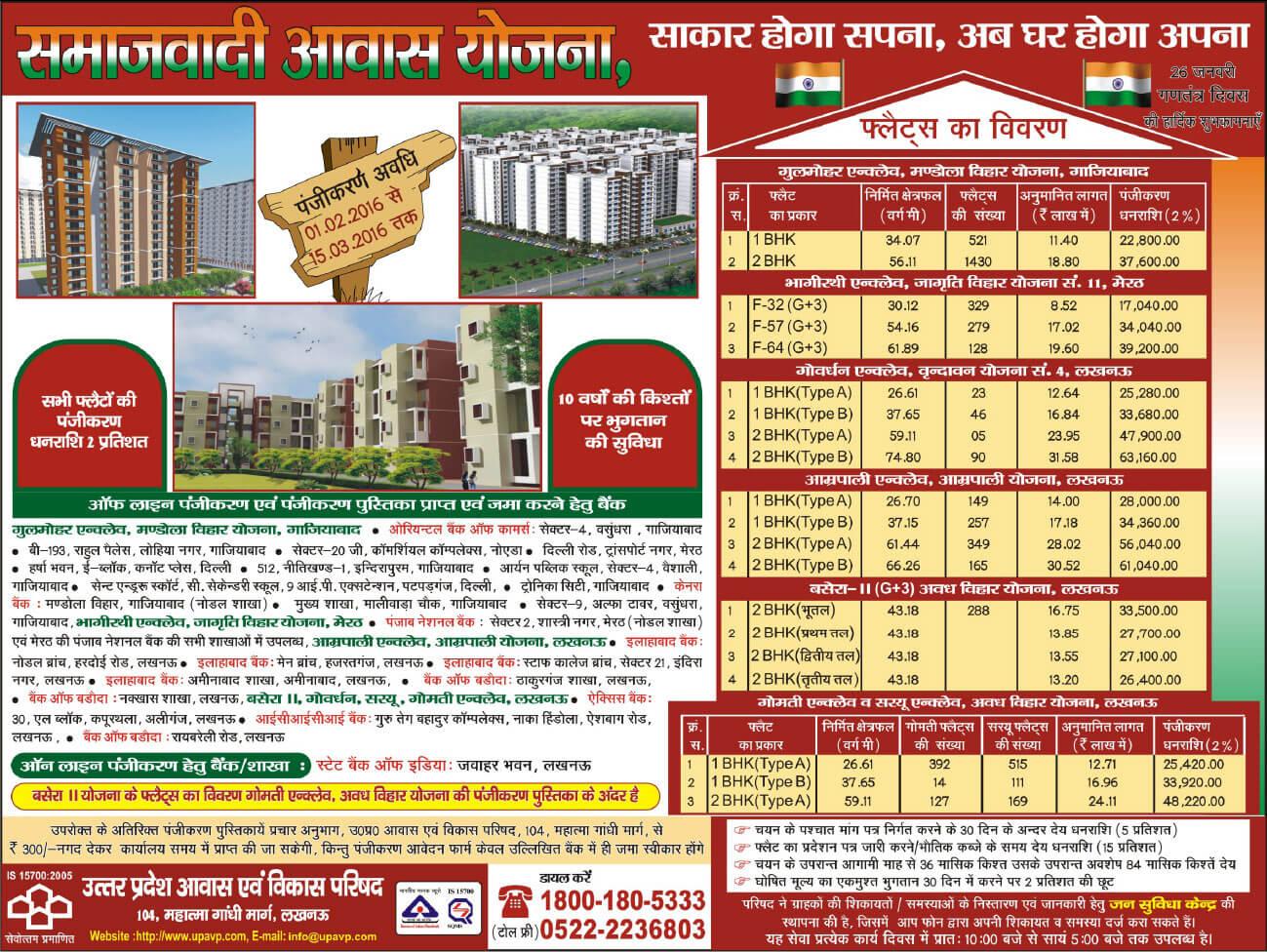 UPAVP New Housing Scheme Under Samajwadi Awas Yojna