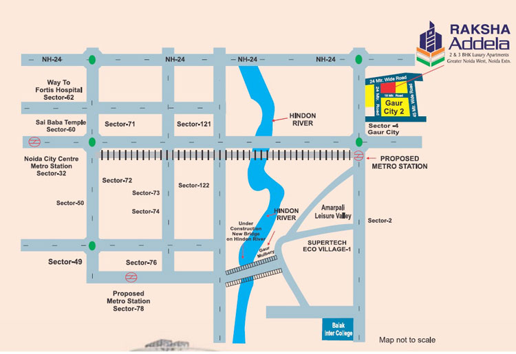 Location Map of AFOWO Raksha Addela Housing Project