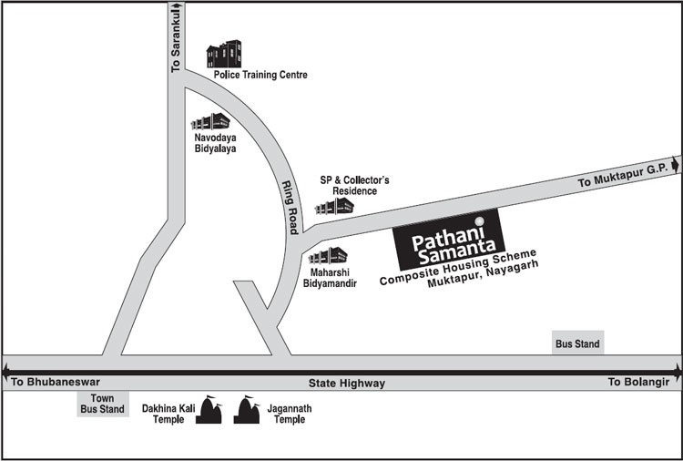 OSHB Pathani Samanta Housing Scheme Location Map