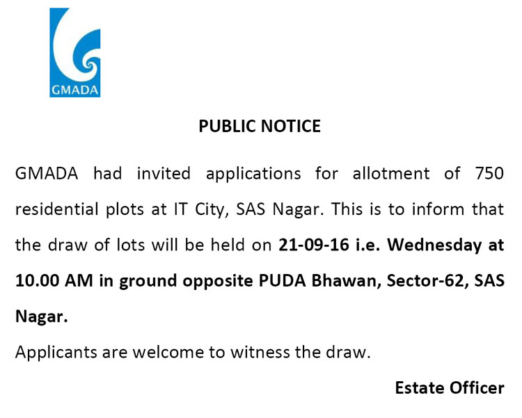 GMADA Notification