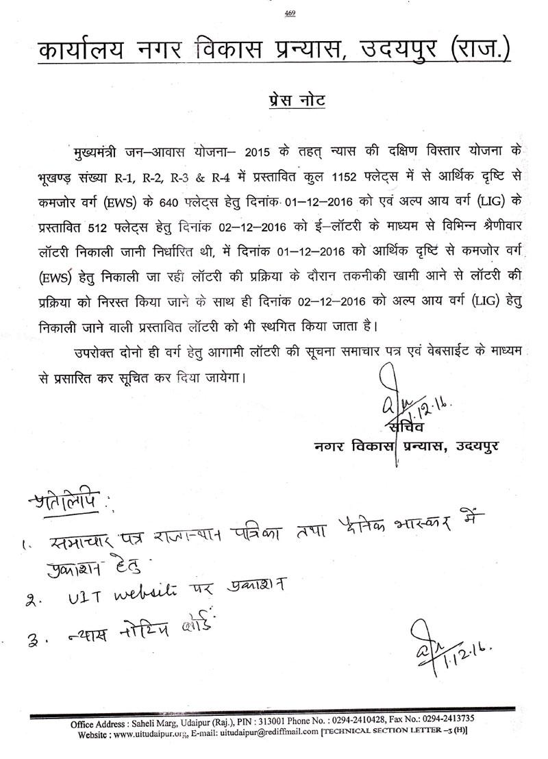 UIT Udiapur Lottery Draw Result Postponed