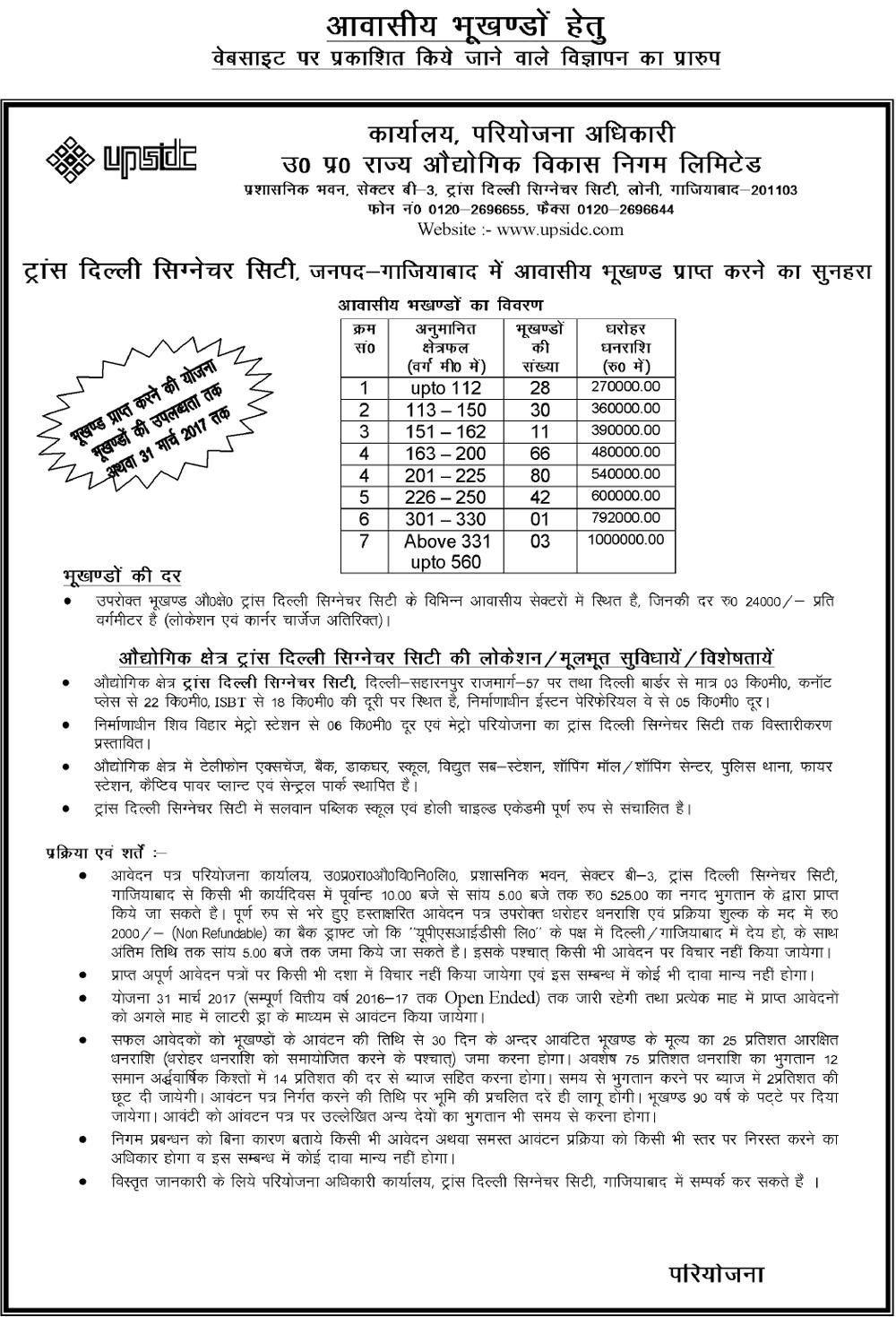 UPSIDC Trans Delhi Signature City Ghaziabad