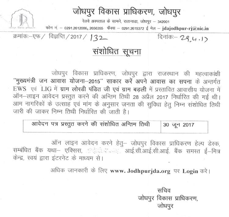 CM Awas Yojana Jodhpur