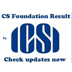 ICSI CS Foundation Result 2017