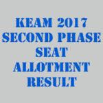 KEAM Second Seat Allotment 2017