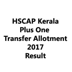 Kerala Plus One Transfer Allotment