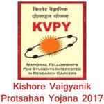kishore vaigyanik protsahan yojana 2017