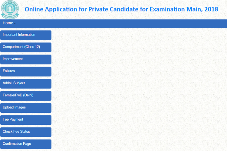 CBSE Private Candidate Admission 2018
