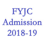 FYJC Admission 2018-19