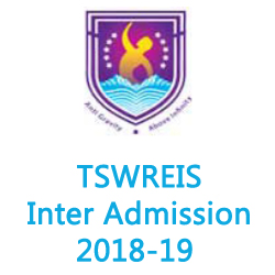 TSWREIS Inter Admission 2018-19