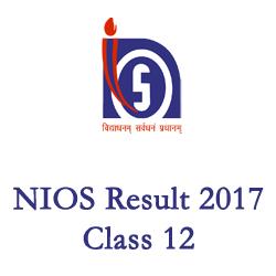 NIOS Results 2017 class 12th