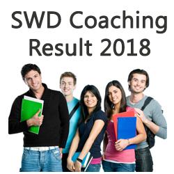 SWD Coaching Exam Result 2018
