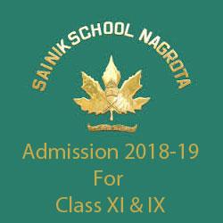 Sainik School Nagrota Admission 2018-19