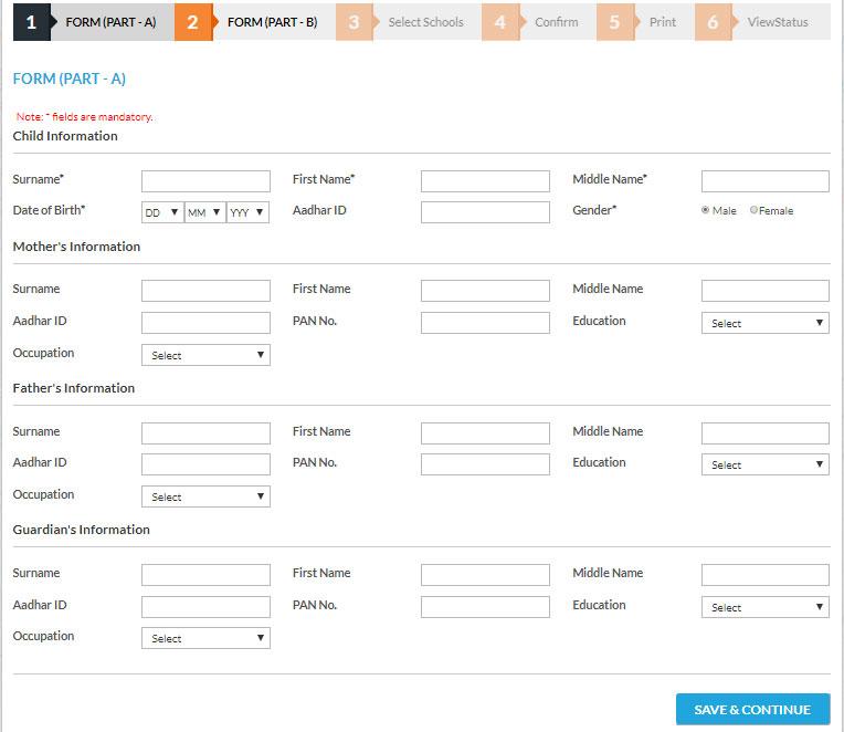 RTE Gujarat Admission Form Online