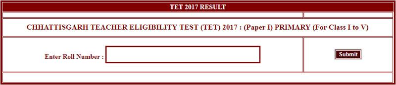 CG TET Results 2018