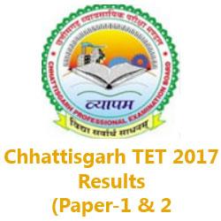 Chhattisgarh TET Result 2018