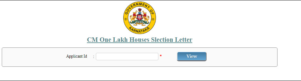 CM One Lakh Houses Selection Letter Download