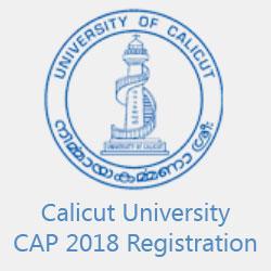 Calicut University CAP 2018 Registration