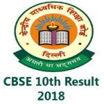 CBSE Board Class 10th Result 2018
