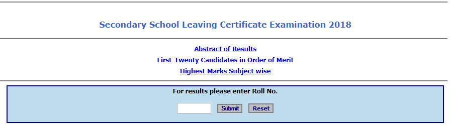 MBOSE 10th Result 2018 & Merit List at megresults nic in