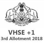 Kerala VHSE 3rd Allotment 2018