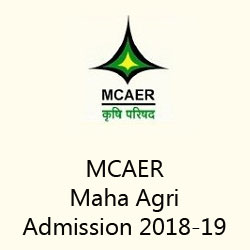 MCAER Maha Agri Admission 2018-19