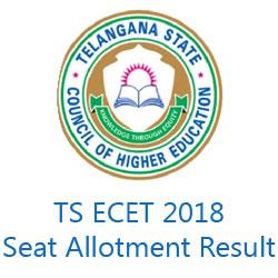 TS ECET 2018 Seat Allotment Result