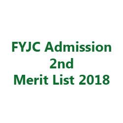 FYJC Second Merit List 2018