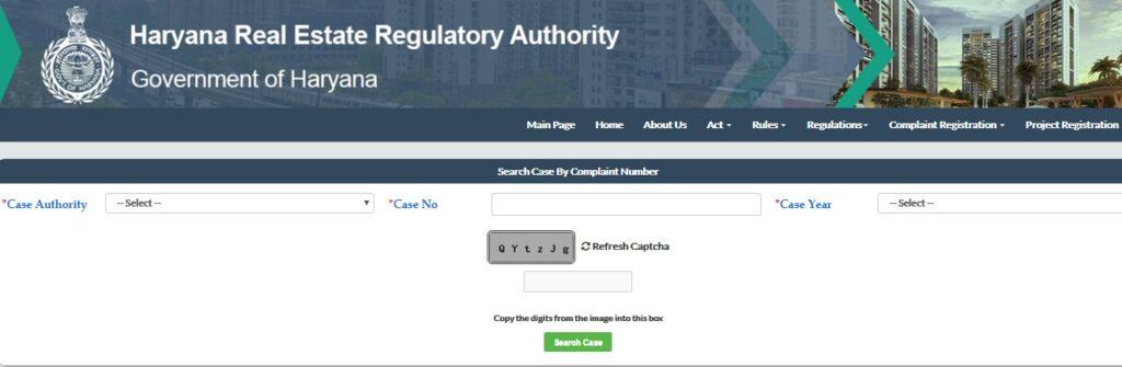 Haryana RERA Complaint Status