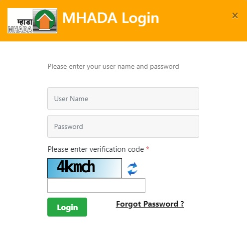MHADA Lottery 2018 Login