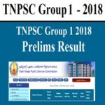 TNPSC Group 1 Result 2018