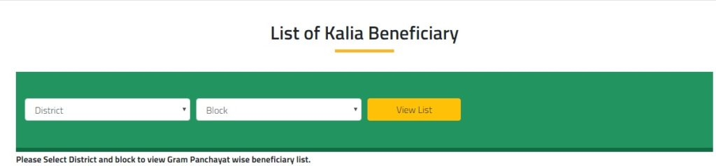 KALIA Beneficiaries List Download