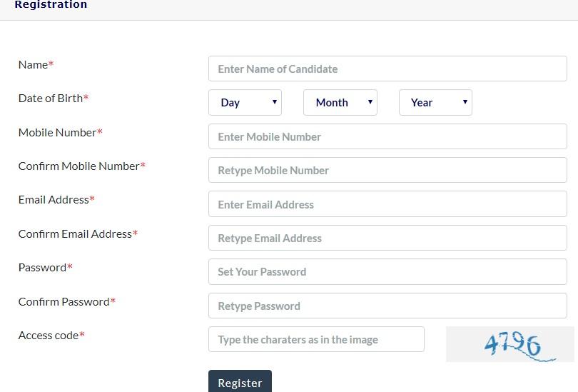 KEAM 2019 Registration Form