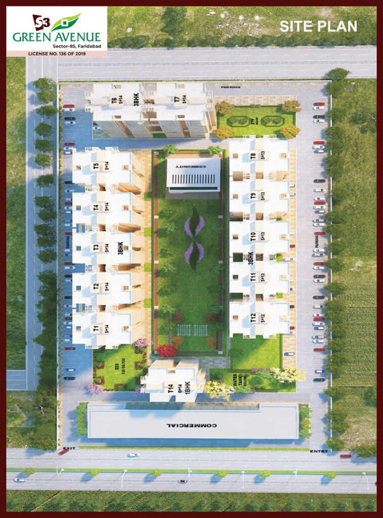 S3 Green Avenue Site Plan
