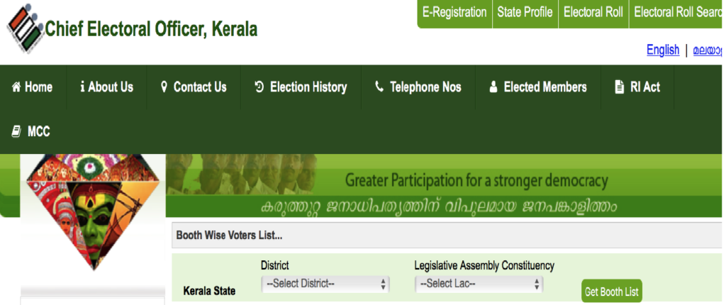 CEO Kerala Voter List  Booth Wise