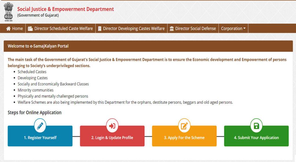 Manav Garima Yojana Gujarat Web Home Page